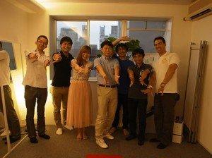 セラサイズWebチームと記念撮影