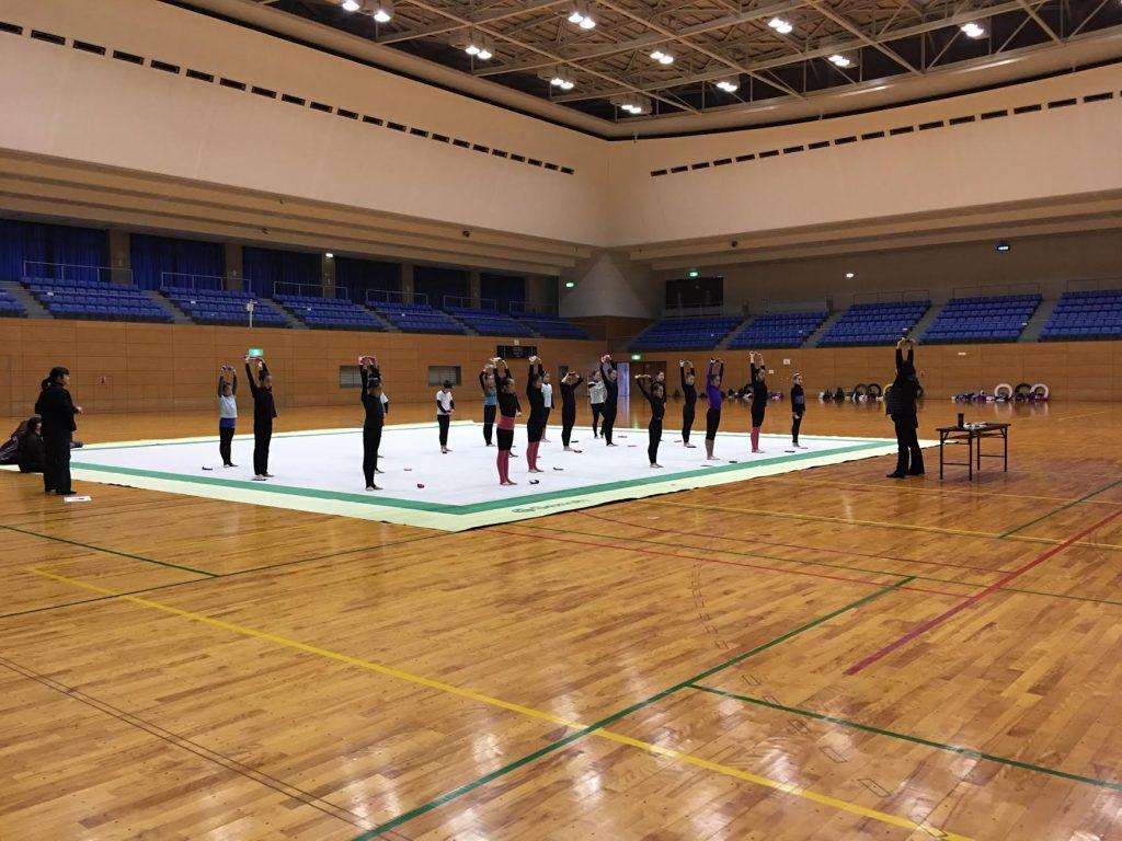 神奈川県の新体操の強化練習会